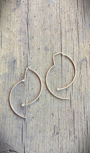 "Threader ""swoop"" Earrings"