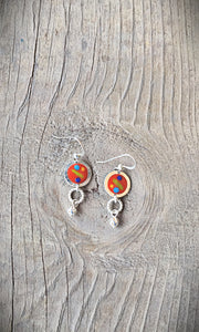 Painted French Wire Earrings