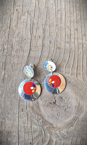 Painted Post Earrings