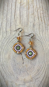 Crystal and Enamel Earrings