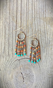 Two Tone Agate Earrings