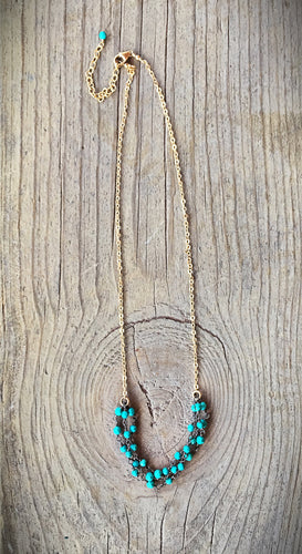 Gold Fill and Turquoise Necklace