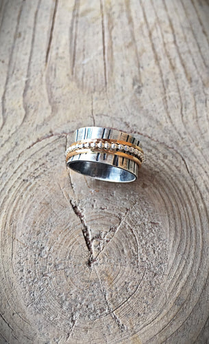 Two Tone Spinner Ring