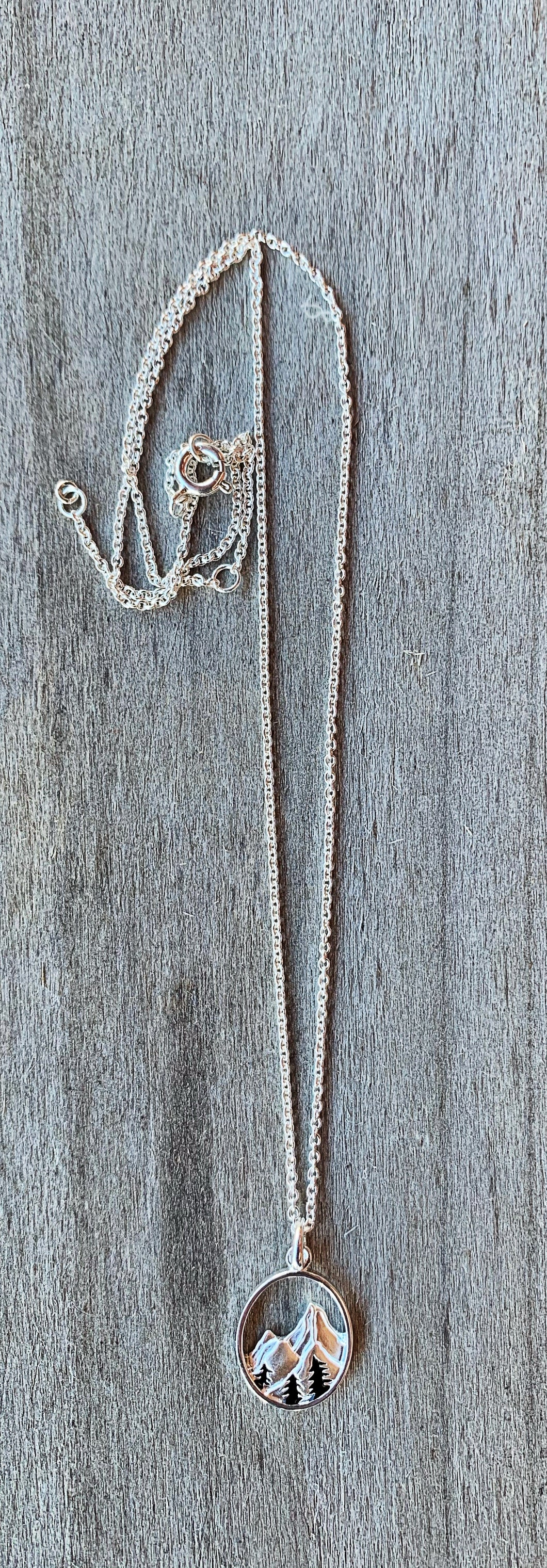 Pine Tree Mountain Necklace