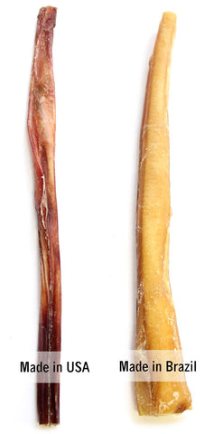 Figure 1A - comparing USA and Brazil bully sticks