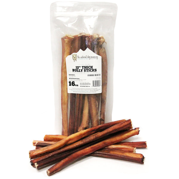 "12"" Thick Bully Sticks Odor Free - 16 oz"