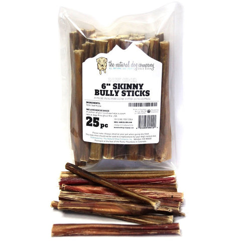 "6"" Skinny Bully Sticks - Low Odor (Bulk)"