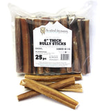 "6"" Thick Bully Sticks - Low Odor (Bulk)"