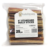 "6"" Standard Bully Sticks - Odor Free"