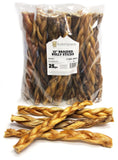 "12"" Braided Bully Sticks - Natural Scent (Bulk)"