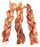 "12"" Jumbo Braided Bully Stick - Odor Free - 10 Pack"