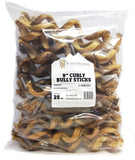 "9"" Curly Bully Sticks - Low Odor"