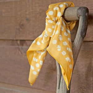 yellow bandana rustic