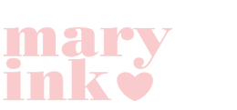 maryink heart logo pink
