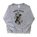 Bird Watcher Screen Printed Long Sleeved Pullover
