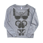 Butterfly Trio Screen Printed Long Sleeved Pullover