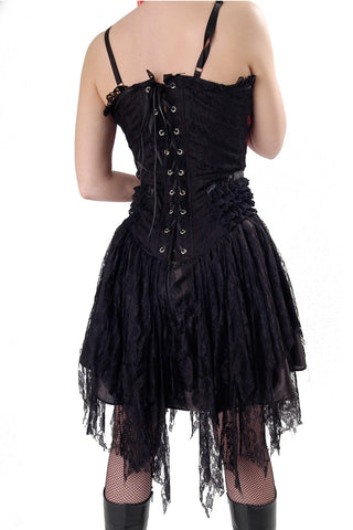Tabatha Gothic Short Dress Satin Panel