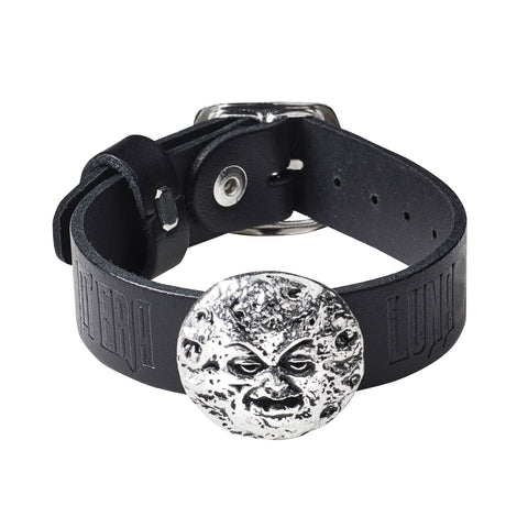 Man In The Moon Wriststrap - Goth Unite