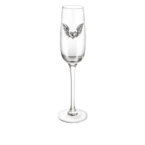 Wings of Love Champagne Glass - Goth Unite