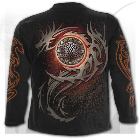 DRAGON EYE - Longsleeve T-Shirt Black - Goth Unite