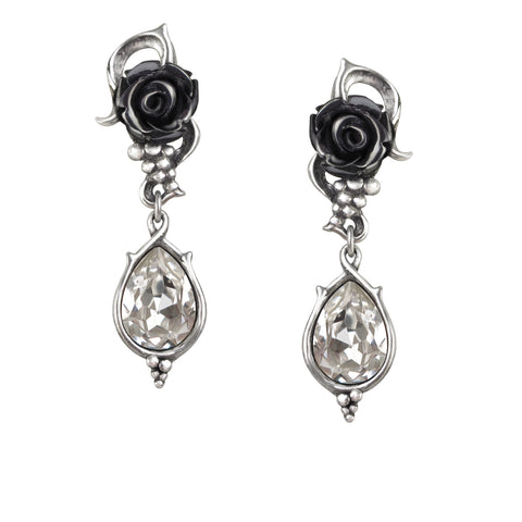Bacchanal Rose Earrings - Goth Unite