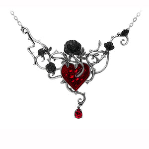 Bed Of Blood-Roses Necklace at goth unite