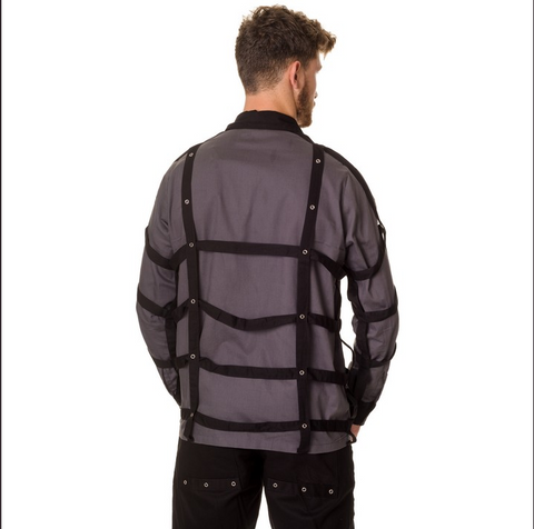 Caged evil jacket grey