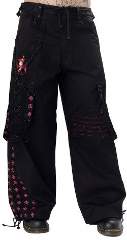 Viper red/black baggy pants