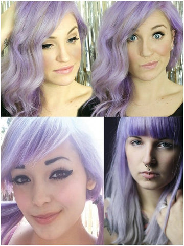 Coloring hair balsam -  Wisteria (pastel purple violet)