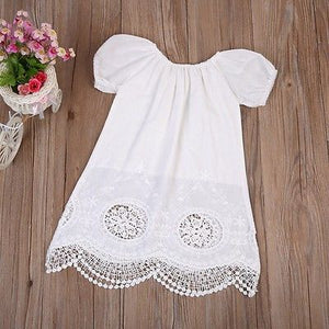 b4a6461a41b Cute Short Sleeve Cotton Mini White Summer Dress Casual Cotton ...