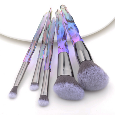 Crystal Style Makeup Brushes Set -