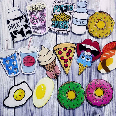 Food Pin Brooch -