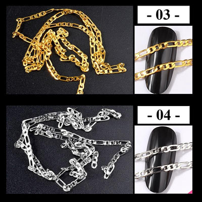 Nail Art Metal Chains 50cm -