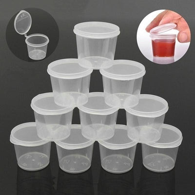 100pcs Disposable Plastic Cups -