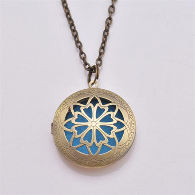 Essential Oil Diffuser Filigree Necklace -