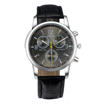 Crocodile Faux Leather Men's Analog Watch -