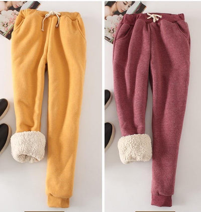 Candy Color Warm Jogger Pants -
