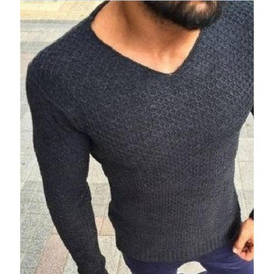 Men's V-Neck Casual Sweaters and Pullovers -