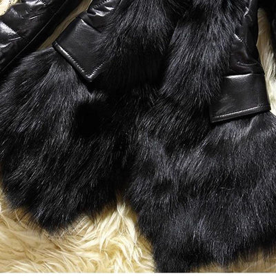 Gothic Fur Leather Jacket -
