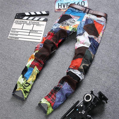 Unique Patchwork Jeans -