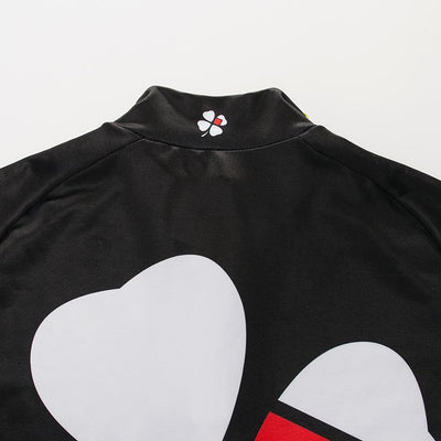 Black Flower Cycling Jersey -