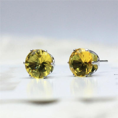 Imitation Zircon Stud Earrings -