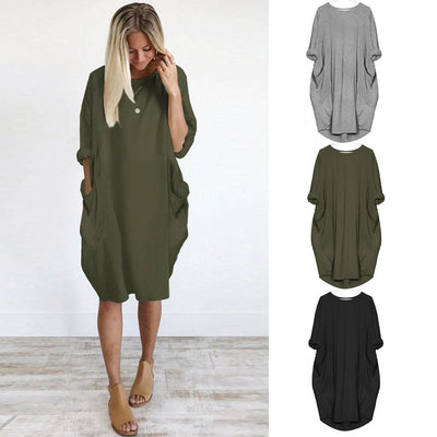 Pocket Loose Dress -