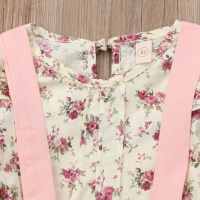 Floral Longsleeve + Overall Jumper -