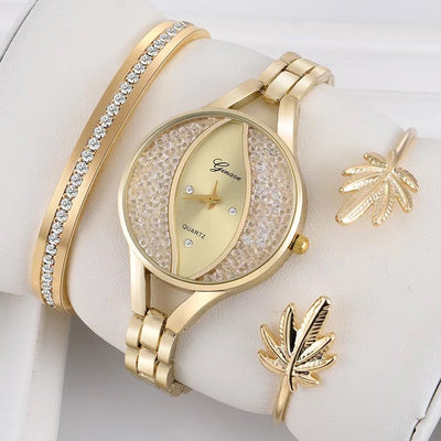 Women Flow Sand Diamond Bracelet Watch -
