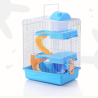 3-storey bird/rat cage - Blue / 23x17x45cm
