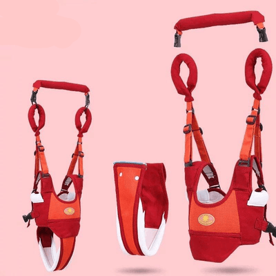 Baby Walker Harness - Red with Orange