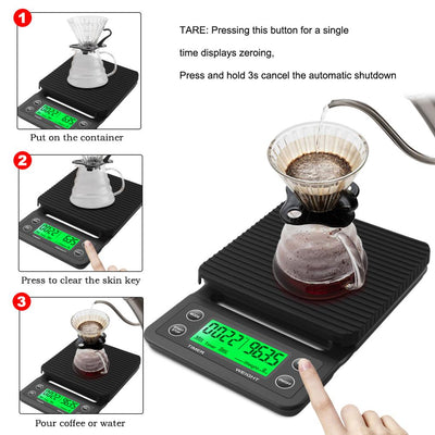 Electronic Digital Kitchen Scale With Timer -