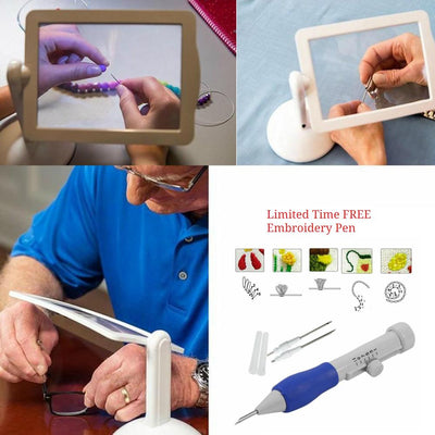 3X Screen Magnifier and FREE Embroidery Pen