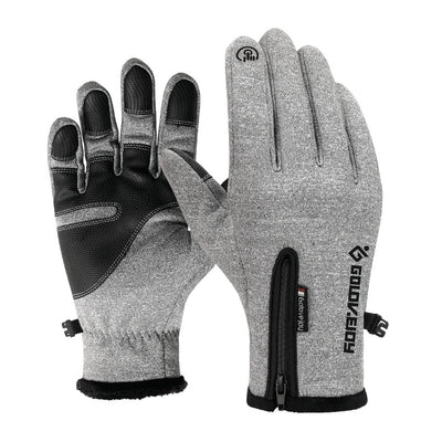 Waterproof Winter Leather Gloves -
